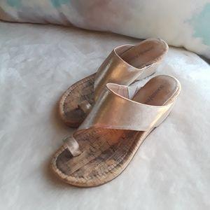 Shoes - * Donald Pliner Toe Ring Wedges Sandals/Slip ons *